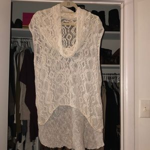 Free People Short Sleeve High-low Sweater